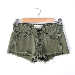 Abercrombie & Fitch Green Low Rise Shorts